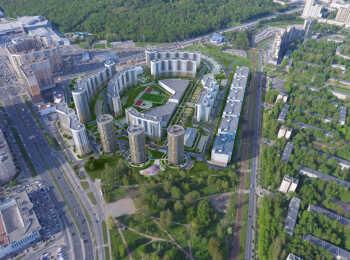 Вид сверху на ЖК Приморский квартал